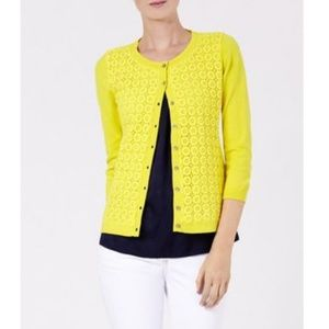 Boden Broderie Daffodil Cardigan